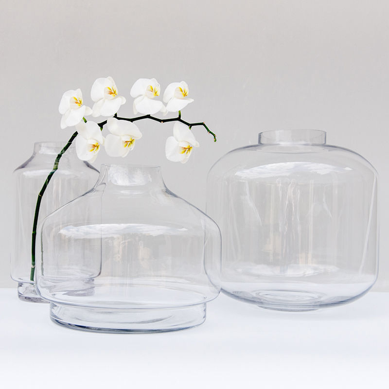 Both Clear Glass Vases