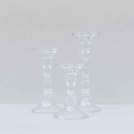 Glass Podium Candle Holder